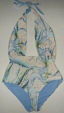 Mara Hoffman womens medium light blue sexy one piece swimsuit reg $212