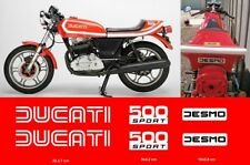 Ducati 500 sport Desmo kit adesivi serbatoio fiancate coda decals stickers moto
