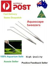 Stainless Steel Aquascape Tweezer Curve Straight Tongs 27cm Planted Tank Tool