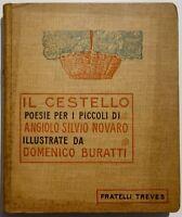 Angiolo Silvio Novaro Il Cestello poesie per i piccoli Treves 4° migliaio