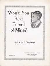 Won't You Be a Friend of Mine?, 1925 vintage sheet musi