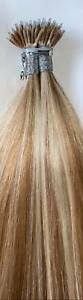 MONGOLIAN DOUBLE DRAWN 16'' NANO TIP 1G HIGHLIGHTED #20/60 HUMAN HAIR EXTENSIONS