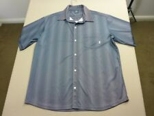 028 MENS NWOT BILLABONG DK GREY / SILVER PATTERNED S/S SHIRT SZE LRG $100 RRP.