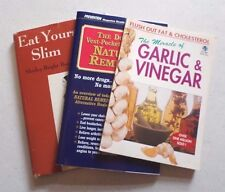 Book/booklets: Eat Yourself Slim, The Miracle of Garlic and Vinegar, The Doc....