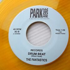 FANTASTICS yellow vinyl doowop Near-MINT Park Ave 45 ANGIE LEE / DRUM BEAT FM466