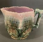 Etruscan+Majolica+Shell+%26+Seaweed+Art+Pottery+Pitcher+-+Beautiful%21+FREE+SHIP