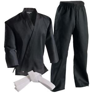 Century 6 oz. Lightweight Student Uniform with Elastic Pants-Black -martial arts