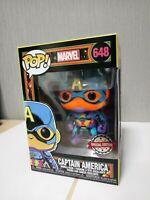 Funko POP Marvel: Black Light – Captain America Bobble-Head Exclusive 648 New