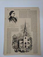1853 Gleason's Pictorial Drawing Room Companion Newspaper Illustration