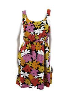 We Love Vera Dress Womens Small Floral Silk Neumann Pockets