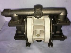 "Wilden Stainless Steel 1"" Inlet 1"" Outlet Diaphragm Pump MODEL P200 With TEFLON"