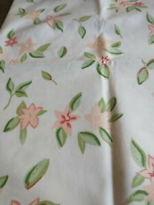 Pottery Barn Kids Fitted Crib Sheet And Pillowcase Peach Flowers