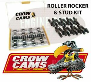 "CROW CAMS ROLLER ROCKERS & STUDS 7/16"" 1.72.1 FORD 302 351 CLEVELAND V8"