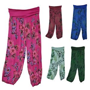 Women's COTTON Floral Ali Baba Harem Trousers Baggy Boho Gypsy Hippy Yoga Pants