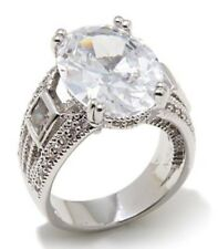 """Real Collectibles by Adrienne® """"Important"""" 18.75ctw Diamonite CZ Silvertone Oval"""