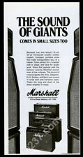 1977 Marshall amp amplifier 4 models photo vintage print ad