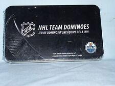Edmonton Oilers   NHL TEAM DOMINOES Double Six Domino Set  NEW in GIFT TIN BOX