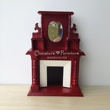 1:12 Dollhouse Miniature Furniture Handcrafted Victorian Fireplace Mahogany