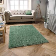 Harmony Thick Shaggy Sage Green Rug in various sizes