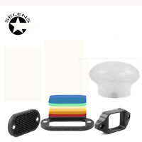 Selens Magnetic Honeycomb Grid Spot Kit For Nikon Canon Flash + Sphere Diffuser