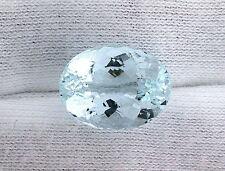 10.45 Carat Oval Light Ice Blue Aquamarine Gemstone Gem Stone Natural EBS133