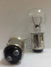 Box of 10 pcs #1157(1034) Clear Bulb DUAL ELEMENT TAIL & BRAKE LIGHT BULBS
