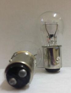 Box10 pcs #1157(1034) Clear Bulb DUAL ELEMENT TAIL & BRAKE LIGHT BULBS OEM QUALI