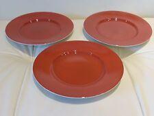 DANSK BAMBOO Rust Salad or Dessert Plates by JACK LENOR LARSEN - Set of 3
