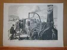Gravure 19° Guerre 1870 Siége de Paris la cannoniére farcy Prussien Saint Cloud
