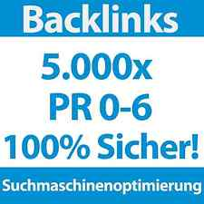 5000 Backlinks PR 0-6 DoFollow/NoFollow | SEO, Linkaufbau für Webprojekt