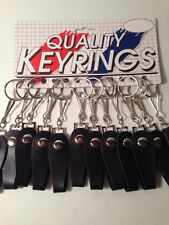 12 New Vinyl Web Strap Snap Over Belt Hook Key Holder on Display Card