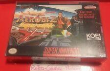Aerobiz Supersonic Super Nintendo, AUTHENTIC SEALED SNES, Actual pic. Fast ship.