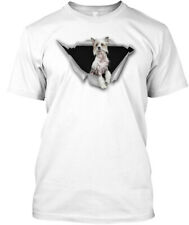 Torn Chinese Crested Dog Hanes Tagless Tee T-Shirt