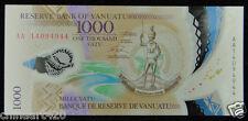 Vanuatu Polymer Plastic Banknote 1000 Vatu 2014 UNC