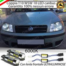 COPPIA LUCI DI POSIZIONE 10 LED FIAT PUNTO 188 T10 W5W CANBUS ULTRALUMINOSI