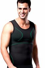 UK Mens Slimming Compression Shaper Vest for Man Boobs Gynecomastia Tank Top New