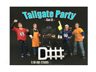 American Diorama 77595 Tailgate Party Set II Figure Set for 1 isto 18 Diecast Mo