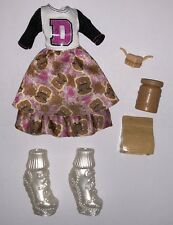 Monster High School Spirit Draculaura Doll Outfit Clothes Dress Shoes NEW Lunch