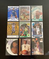 Lot of 9 Basketball Rookie Cards w/ Ray Allen, McGrady, Vin Baker 1st Day, +