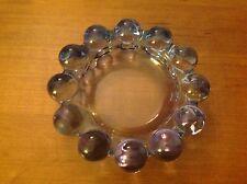 Glass Pillar Candle Holder / Wine Coaster Circles Ring Perimeter Bubble Pattern