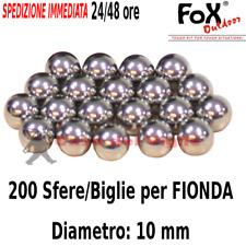 Sfere Biglie in Acciaio per Fionda - Diametro 10mm - 200 Pezzi - Pallini Palline