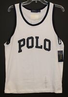 Polo Ralph Lauren Mens White POLO USA Tank Top T-Shirt NWT Size M