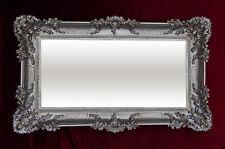 Barroco Antiguo espejo de Pared CON ORNAMENTACIONES PLATA ENVEJECIDA 96x57
