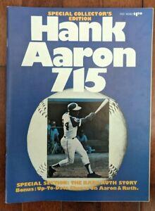 Vintage 1974 Hank Aaron 715 Magazine Collectors Edition Atlanta Braves Mint !!