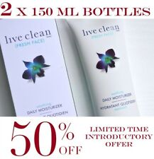 Live Clean Fresh Face Soothing Daily Moisturizer PACK OF 2 x 150 ml BOTTLES