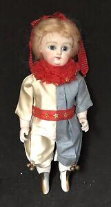 Antique 8 1/2 Inch All Porcelain Kestner Doll Artist Reproduction Doll