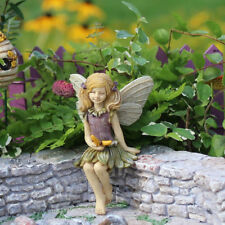 Miniature Dollhouse FAIRY GARDEN Fairy Harper Sitting with Butterfly