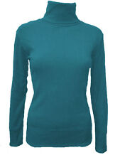 Cotton Polo Neck Long Sleeve Women's Other Tops