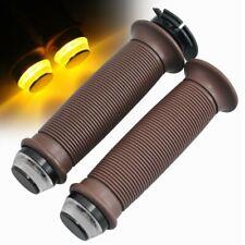 1 Pair Motorcycle Brown Handlebar W/ Dual Light Universal For 22mm Handlebars