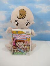 BABYSITTING MAMA Nintendo Wii Game & Plush Baby Doll Control Holder